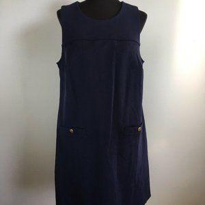 Eloquii Shift Dress 18 Navy Blue Ponte Knit Pocket